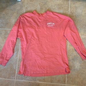 Pink Amelia Island Long-Sleeve T-shirt size Medium
